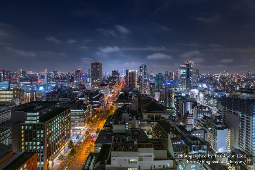 ザ・ロイヤルパークホテル・アイコニック大阪御堂筋からの夜景 本町~難波方面