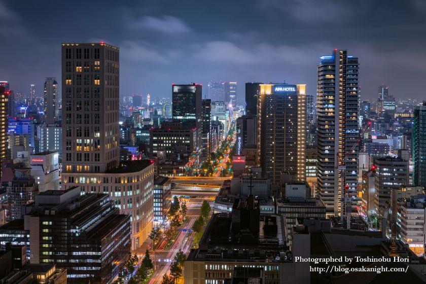 ザ・ロイヤルパークホテル・アイコニック大阪御堂筋からの夜景 本町の高層ビル群