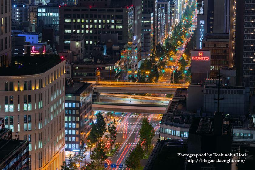 ザ・ロイヤルパークホテル・アイコニック大阪御堂筋からの夜景 御堂筋と阪神高速