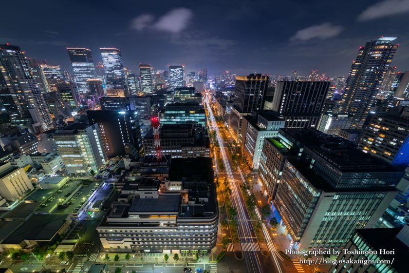 ザ・ロイヤルパークホテル・アイコニック大阪御堂筋からの夜景 中之島~梅田方面の俯瞰