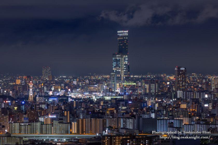 アートホテル大阪ベイタワーからの夜景 あべのハルカス 2020年9月