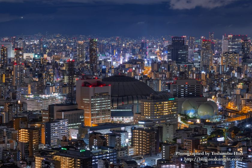 アートホテル大阪ベイタワーからの夜景 京セラドーム大阪 2020年9月