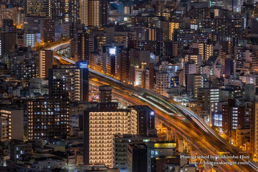 アートホテル大阪ベイタワーからの夜景 阪神高速16号大阪港線 2020年9月