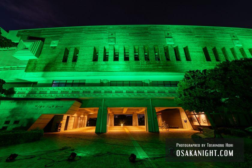 藤井寺市立生涯学習センター(アイセル シュラ ホール) ライトアップ夜景 2021年7月 04