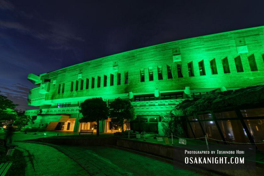 藤井寺市立生涯学習センター(アイセル シュラ ホール) ライトアップ夜景 2021年7月 05