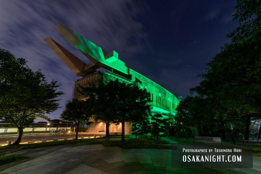 藤井寺市立生涯学習センター(アイセル シュラ ホール) ライトアップ夜景 2021年7月 06