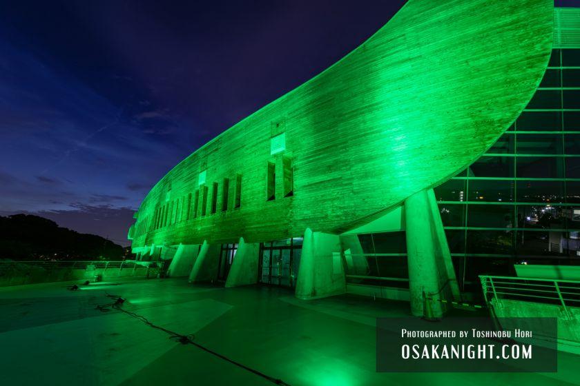 藤井寺市立生涯学習センター(アイセル シュラ ホール) ライトアップ夜景 2021年7月 07