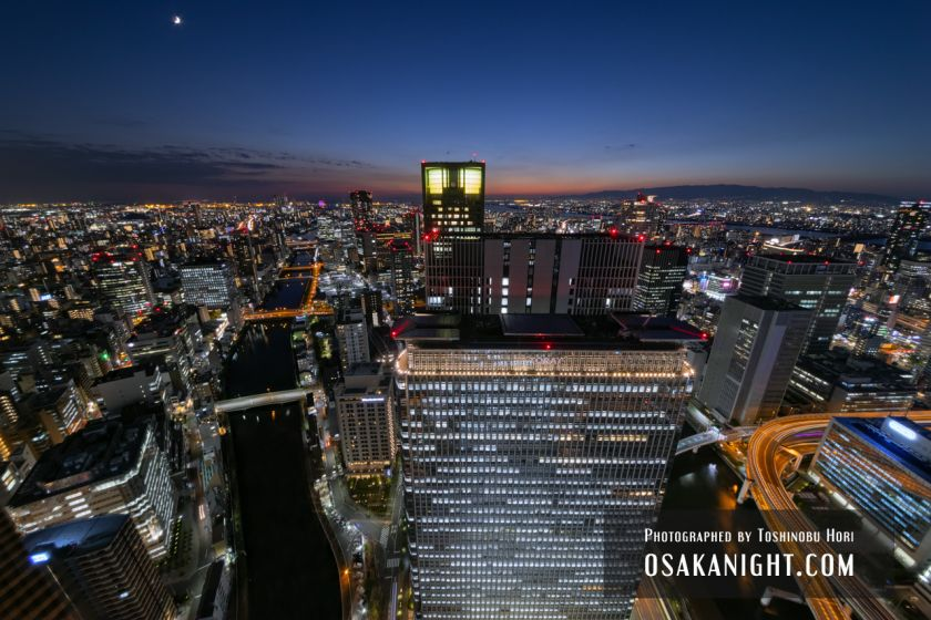 コンラッド大阪からの夕景 01
