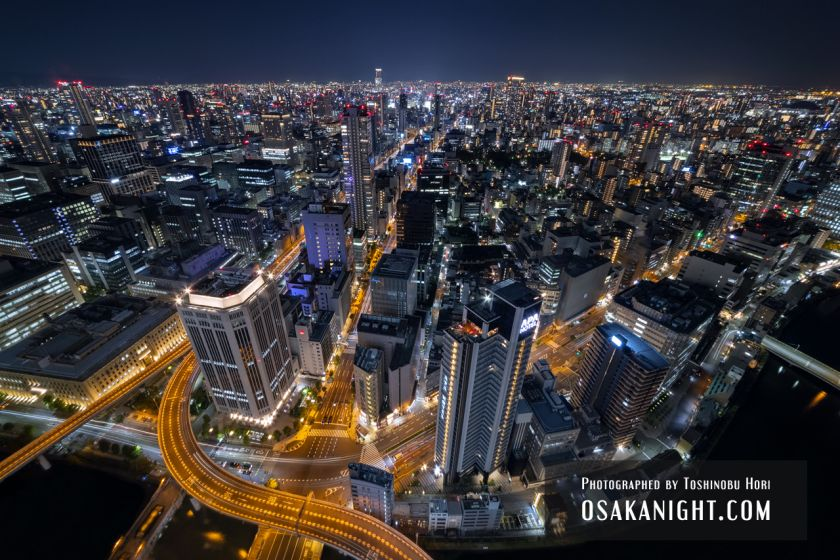 コンラッド大阪からの夜景 難波方面 01