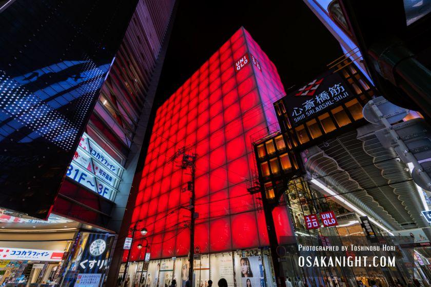 ユニクロ心斎橋店 ライトアップ 2021年7月 03