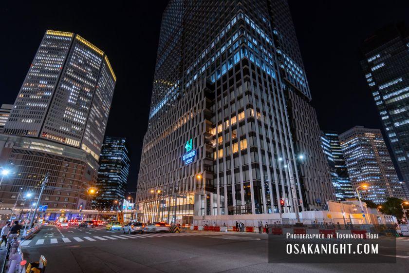 阪神梅田本店2期 建て替え先行オープン 外観夜景 2021年10月 05