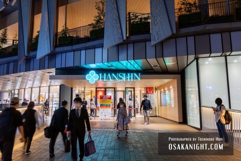 阪神梅田本店2期 建て替え先行オープン エントランス夜景 2021年10月 03