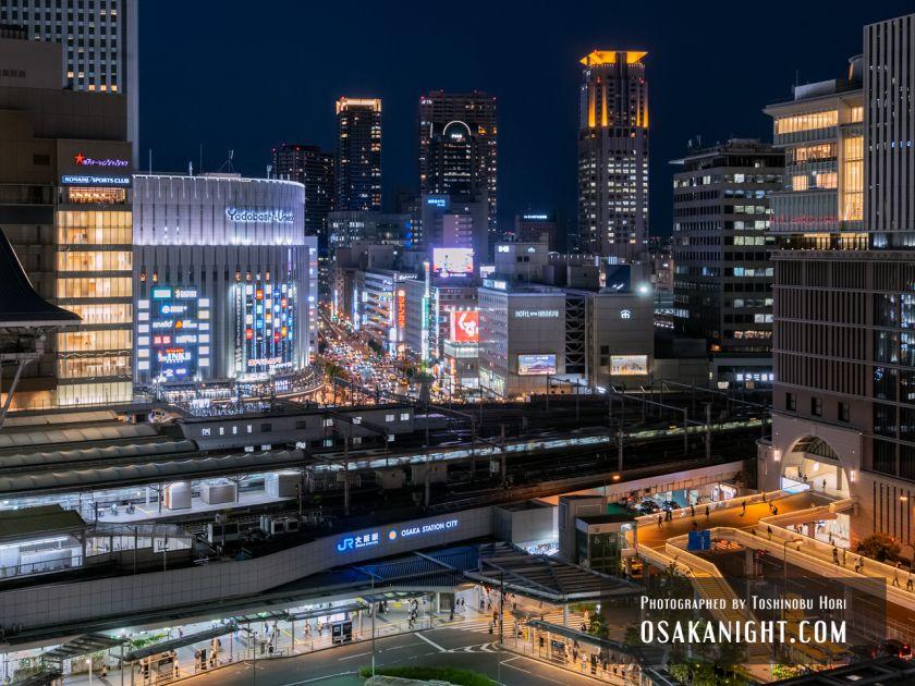 阪神梅田本店2期 建て替え先行オープン 展望スポット夜景 2021年10月 01
