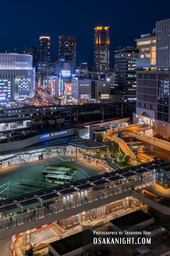 阪神梅田本店2期 建て替え先行オープン 展望スポット夜景 2021年10月 02